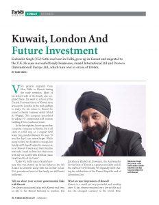 2016 06 14 Business - Kulvinder Singh - Rani Singh - 2016 Kuwait Forbes Magazine 01