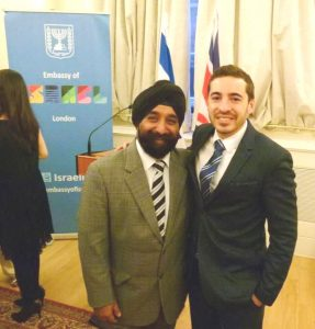 2016 07 13 Embassy of Israel Vic with Shai Masot