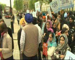 Vics Sethi Interview at the procession for Sikhs in UAE
